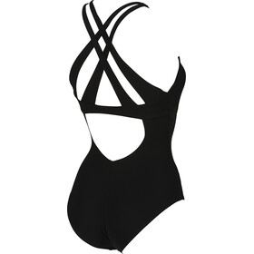 arena Maia Criss Cross Back One Piece Swimsuit Dame black-black
